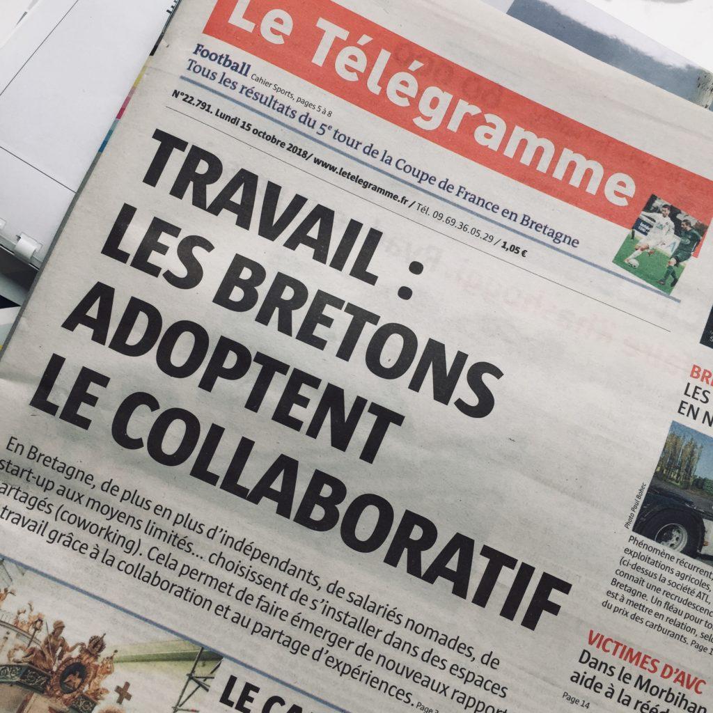 Le Télégramme – Les Bretons adoptent le collaboratif